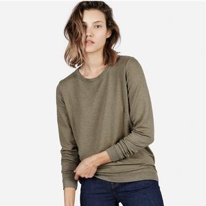 Everlane army green French Terry long sleeve XS